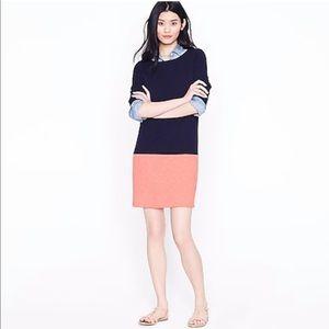 J. Crew Maritime Colorblock sweatshirt dress XS